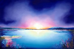 Deep Blue by Anna Gammans - Original Painting on Stretched Canvas sized 59x39 inches. Available from Whitewall Galleries